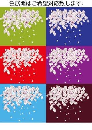 画像3: 和柄 アロハ 桜 吹雪 チリメン風 大きいサイズ 桜イラスト 生地