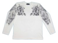 騎龍雷神 和柄 長袖Tシャツ 刺青デザインの紅雀(名入れ刺繍可)通販 和柄服