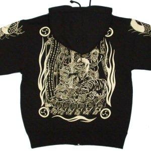 画像3: 酒呑童子 和柄 パーカー スエット刺青デザインの紅雀(名入れ刺繍可)通販 派手 パーカー 和柄服
