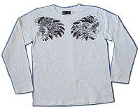 バロン 和柄 長袖Tシャツ 刺青デザインの紅雀(名入れ刺繍可)通販