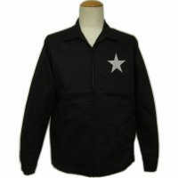 黒 ジャケット( スイングトップ ブルゾンジャンパー) 星 刺繍 カー倶楽部 通販