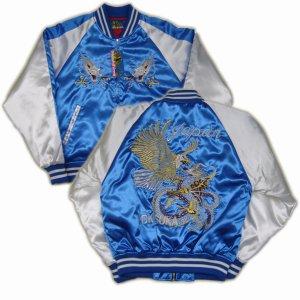 画像5: スカジャン 鷹 龍 刺繍 和柄服 通販 ( クローズ 坊屋春道 )