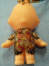 【鯉】刺青キューピー携帯ストラップ悪羅悪羅系根付 通販