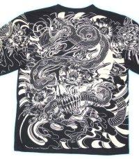 蛇スカル 和柄 長袖Tシャツ 刺青デザインの紅雀(名入れ刺繍可)通販