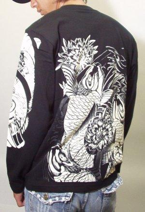 画像3: 鯉 和柄 長袖Tシャツ 刺青デザインの紅雀(名入れ刺繍可)通販