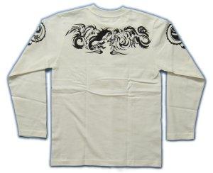 画像5: 龍トライバル 和柄 長袖Tシャツ 刺青デザインの紅雀(名入れ刺繍可)通販