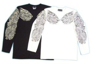 画像2: 龍須佐之男 和柄 長袖Tシャツ 刺青デザインの紅雀(名入れ刺繍可)通販 和柄服