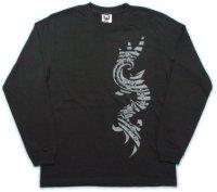 トライバル 和柄 長袖Tシャツ 刺青デザインの紅雀(名入れ刺繍可)通販 和柄服