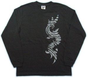 画像1: トライバル 和柄 長袖Tシャツ 刺青デザインの紅雀(名入れ刺繍可)通販 和柄服