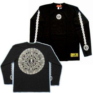 画像2: 天星宮曼荼羅 背中 梵字 長袖Tシャツ 梵字タトゥー 刺青デザイン (名入れ刺繍可) Tシャツの袖にデザイン 通販 和柄服