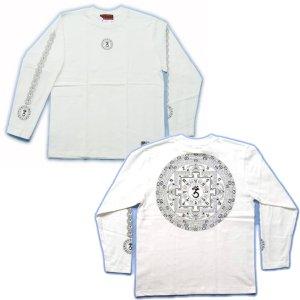 画像3: 天星宮曼荼羅 背中 梵字 長袖Tシャツ 梵字タトゥー 刺青デザイン (名入れ刺繍可) Tシャツの袖にデザイン 通販 和柄服