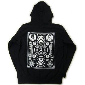 画像3: 大日護符 梵字 パーカー スエット刺青デザインのマハースカ(名入れ刺繍可)通販 和柄服