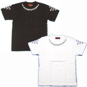 画像4: 天尊真言 ネック 梵字 Tシャツ /梵字タトゥー 刺青 デザイン のマハースカ(名入れ刺繍可)通販 和柄服 梵字徹底