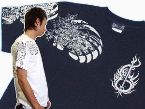 画像1: 紅雀 和柄 大蛇 武者 刺青 Tシャツ 「送料無料」 通販 刺青 和彫り デザイン