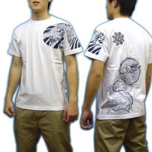 画像3: 鳳凰 刺青 胸割右 背中鳳凰 紅雀ブランド 通販 名入れ刺繍可 (和彫り)  和柄 tシャツ 和柄服