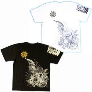 画像5: 鳳凰 刺青 胸割右 背中鳳凰 紅雀ブランド 通販 名入れ刺繍可 (和彫り)  和柄 tシャツ 和柄服