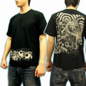 画像2: 唐獅子牡丹和柄Tシャツ通販