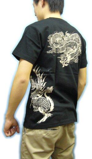画像3: 紅雀 和柄 【麒麟 雲龍】聖獣 Tシャツ 刺青 和彫り デザイン 和柄服