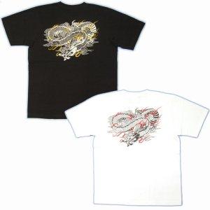 画像5: 紅雀 和柄 【麒麟 雲龍】 聖獣 Tシャツ (名入れ刺繍可)通販 刺青 和彫り デザイン 和柄服