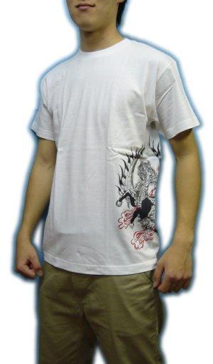 画像4: 紅雀 和柄 【麒麟 雲龍】聖獣 Tシャツ 刺青 和彫り デザイン 和柄服