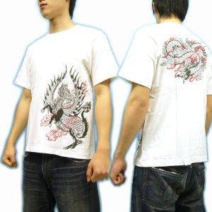 画像3: 紅雀 和柄 【麒麟 雲龍】 聖獣 Tシャツ (名入れ刺繍可)通販 刺青 和彫り デザイン 和柄服