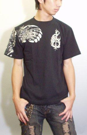 画像2: 紅雀 和柄 大蛇 武者 刺青 Tシャツ 「送料無料」 通販 刺青 和彫り デザイン