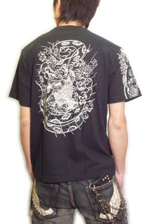 画像3: 紅雀 和柄 大蛇 武者 刺青 Tシャツ 「送料無料」 通販 刺青 和彫り デザイン