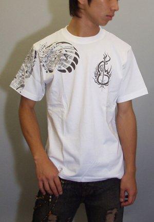 画像4: 紅雀 和柄 大蛇 武者 刺青 Tシャツ 「送料無料」 通販 刺青 和彫り デザイン