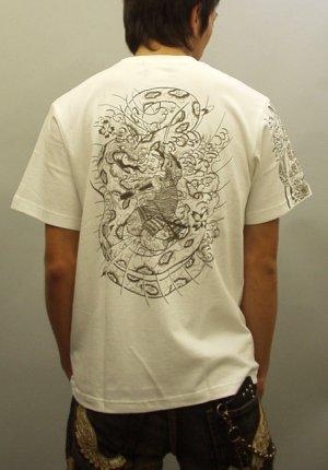 画像5: 紅雀 和柄 大蛇 武者 刺青 Tシャツ 「送料無料」 通販 刺青 和彫り デザイン