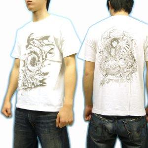 画像3: 桜吹雪 竜王太郎 和柄 Tシャツ 通販 刺青タトゥー 和彫り デザイン 紅雀 名前刺繍可 和柄服