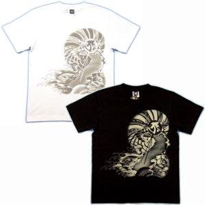 画像4: 虎 と宝玉に(寅) 梵字 タラーク 和柄 Tシャツ 紅雀 通販 (名入れ刺繍可) 刺青 みきり和彫り デザイン 和柄服