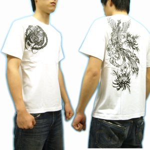 画像5: 鳳凰と菊の刺青デザインTシャツ通販