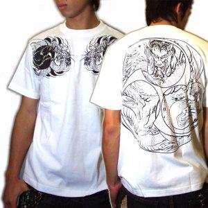 画像3: 巴火龍の和柄Tシャツ通販