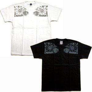 画像2: 大日如来 刺青 蓮の胸割 和柄Tシャツ 紅雀ブランドの仏画 (通販 名入れ刺繍可) 和柄服