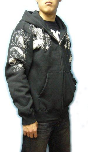 画像4: 酒呑童子 和柄 パーカー スエット刺青デザインの紅雀(名入れ刺繍可)通販 派手 パーカー 和柄服