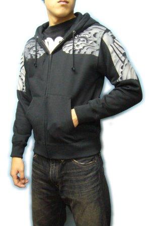 画像4: 阿弥陀如来 和柄 パーカー スエット刺青デザインの紅雀(名入れ刺繍可)通販 派手 パーカー 和柄服