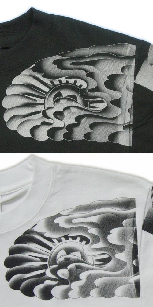 和柄 長袖Tシャツ 正面 画像