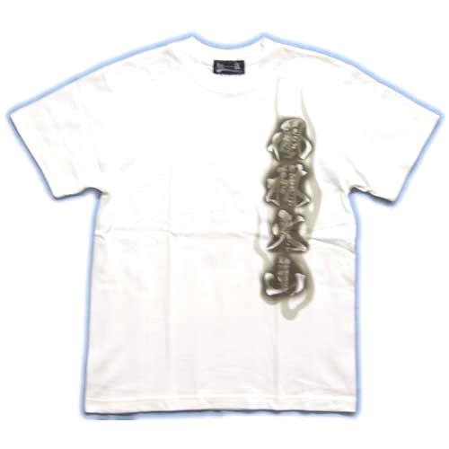 和柄 Tシャツ 白前 画像
