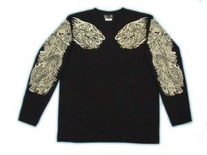 画像1: 龍須佐之男 和柄 長袖Tシャツ 刺青デザインの紅雀(名入れ刺繍可)通販 和柄服