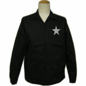 画像1: 黒 ジャケット( スイングトップ ブルゾンジャンパー) 星 刺繍 カー倶楽部 通販