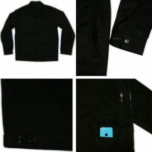 画像3: 黒 ジャケット(無地 スイングトップ ブルゾンジャンパー) 刺繍 名前入れ可 カー倶楽部 通販
