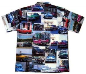 画像2: フォト アロハシャツ クラシックカー カラー