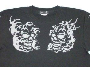 画像2: スカルトライバル 和柄 長袖Tシャツ 刺青デザインの紅雀(名入れ刺繍可)通販