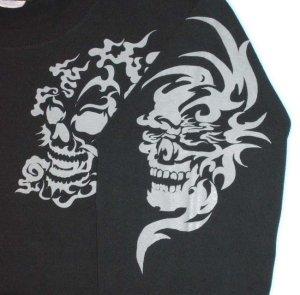 画像3: スカルトライバル 和柄 長袖Tシャツ 刺青デザインの紅雀(名入れ刺繍可)通販