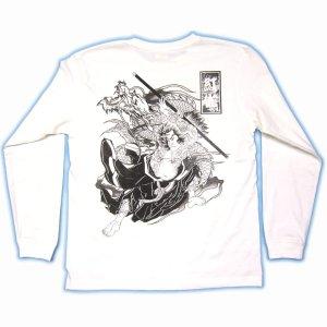 画像1: 史進 和柄 長袖Tシャツ 刺青デザインの紅雀(名入れ刺繍可)通販 和柄服