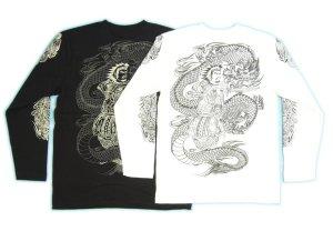 画像3: 龍須佐之男 和柄 長袖Tシャツ 刺青デザインの紅雀(名入れ刺繍可)通販 和柄服