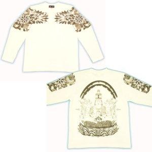 画像5: 千手観音 刺青 胸割 和柄 長袖Tシャツ 紅雀仏像画 通販 名入れ刺繍可 和彫り (十一面観音) 和柄服