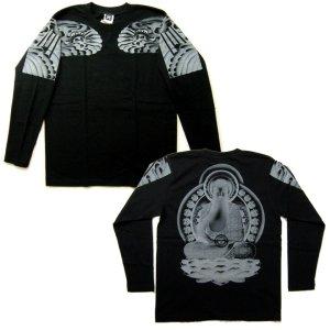 画像4: 阿弥陀如来 刺青 の仏像画 和柄 長袖tシャツ 紅雀通販 名前刺繍可 和彫り デザイン 和柄服