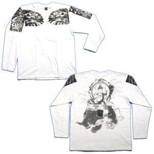 画像5: 六牙の象に乗る 普賢菩薩 の仏画 和柄 長袖Tシャツ 紅雀通販 (名前刺繍) 釈迦如来の脇侍 和柄服