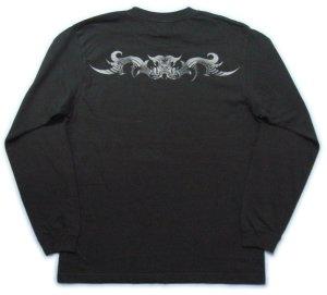 画像3: トライバル 和柄 長袖Tシャツ 刺青デザインの紅雀(名入れ刺繍可)通販 和柄服